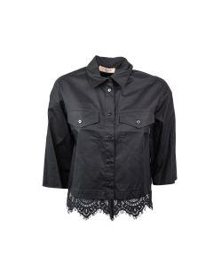 TWIN-SET Camicia Donna NERO
